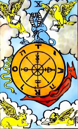 Kombinacije u Tarot kartama (karta Točak sreće)