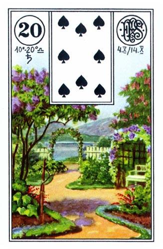 Lenormand karta Bašta (Vrt)