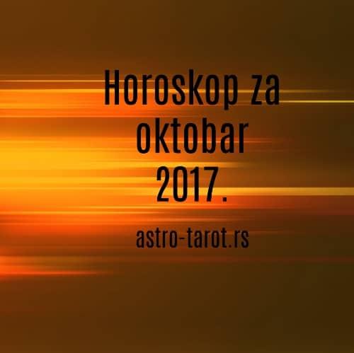 Horoskop za oktobar 2017.