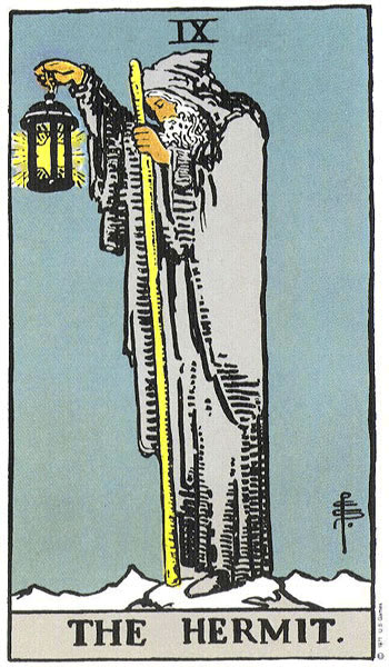 Tarot karta Pustinjak – simbol duhovnosti i mudrosti