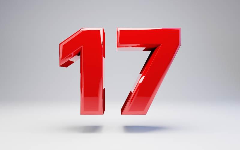 Broj 17 – zanimljivosti i verovanja