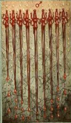 Tarot karta Devet mačeva – vreme kajanja i očaja