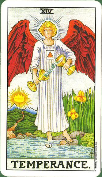 Tarot karta Umerenost – simbol unutrašnje ravnoteže i sklada
