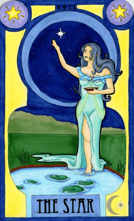 Tarot karta Zvezda – Duhovna pomoć anđela čuvara