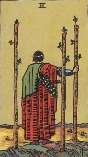 Tarot karta Tri štapa – Vizije koje sledimo