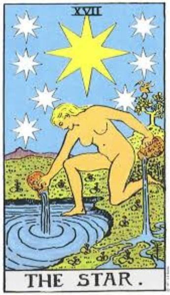 Tarot karta Zvezda – simbol nadahnuća, harmonije i pozitivnih preokreta