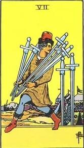 Tarot: Sedam mačeva karta samozavaravanja i izdaje